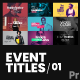 Event Titles 01 - VideoHive Item for Sale