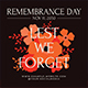 Remembrance Day Flyer Set
