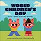 World Children's Day Flyer Set