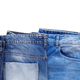 Blue jeans denim with pocket isolated at white background. Jeans heap - PhotoDune Item for Sale