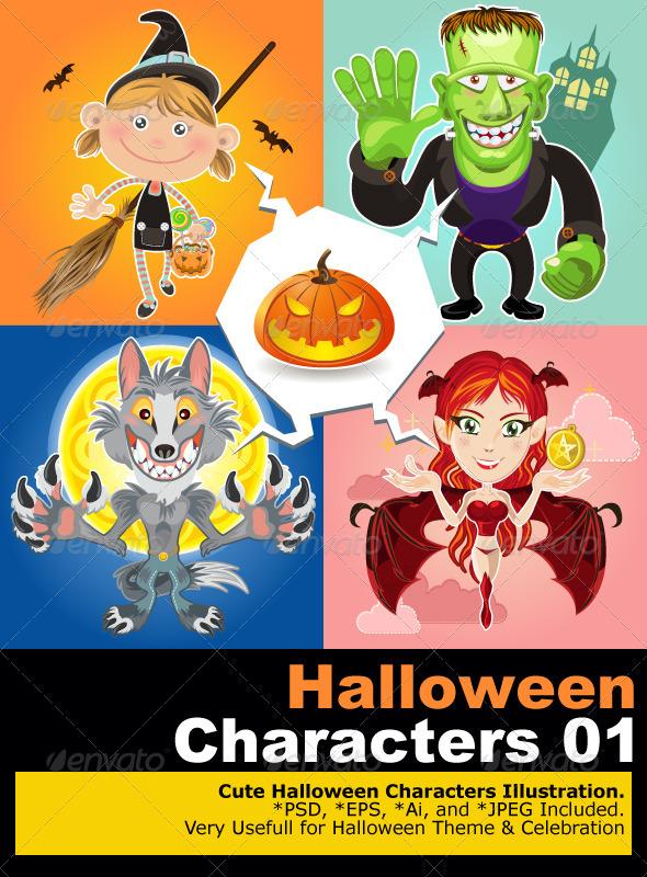 Halloween Characters - Halloween Seasons/Holidays