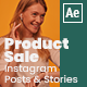 Product Sale Instagram Posts And Stories