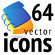 Set Of 64 Vector Icons - GraphicRiver Item for Sale