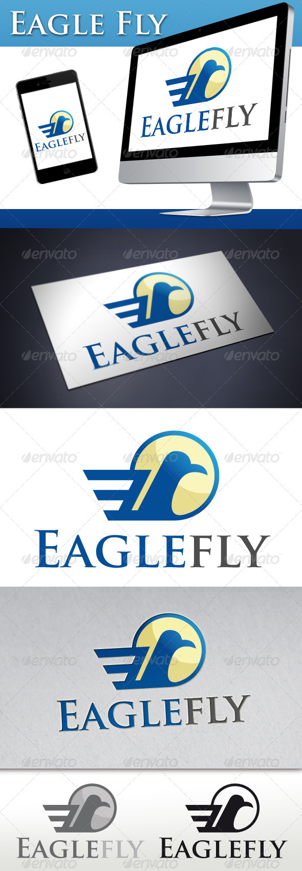 Eagle Fly Logo - Animals Logo Templates