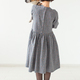 clothing, designer, people concept - back view of attractive woman in a gray dress posing on white - PhotoDune Item for Sale