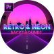 Retro Wave & Neon Backgrounds for Premiere Pro - VideoHive Item for Sale