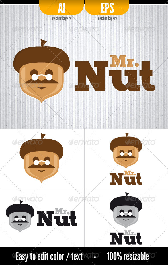 Mr. Nut - Food Logo Templates