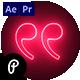 Neon Premium Quotes - VideoHive Item for Sale