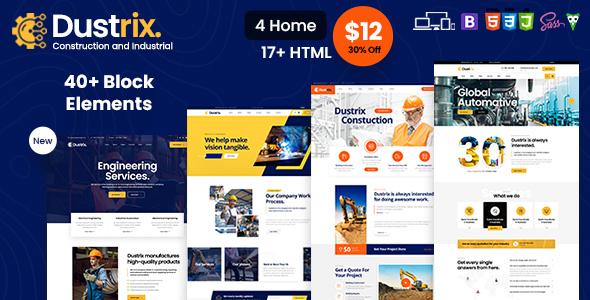 Dustrix - Construction & Industry HTML Template
