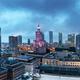 Warsaw, Poland panorama at night - PhotoDune Item for Sale