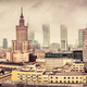 Warsaw, Poland panorama, clouds and fog - PhotoDune Item for Sale