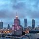 Warsaw, Poland panorama at dusk - PhotoDune Item for Sale