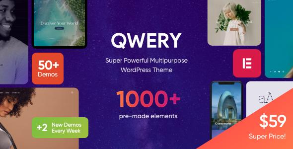 Wondrous Qwery - Multi-Purpose Business WordPress Theme + RTL