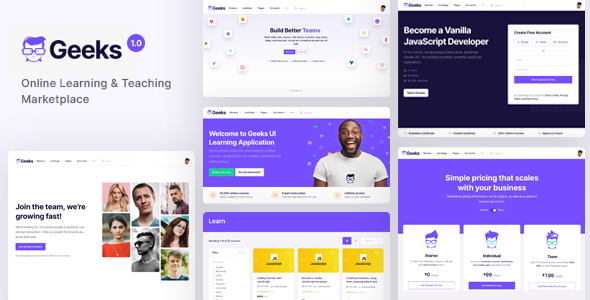 Download Geeks – Online Learning Marketplace WordPress Theme Free Nulled