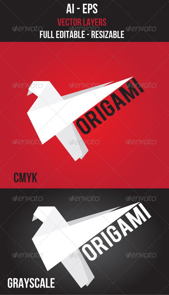 Origami Logo Vector - Animals Logo Templates