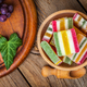 Colorful jelly candies in wooden bowl. - PhotoDune Item for Sale