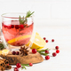 Cranberry tea with lemon at white table - PhotoDune Item for Sale