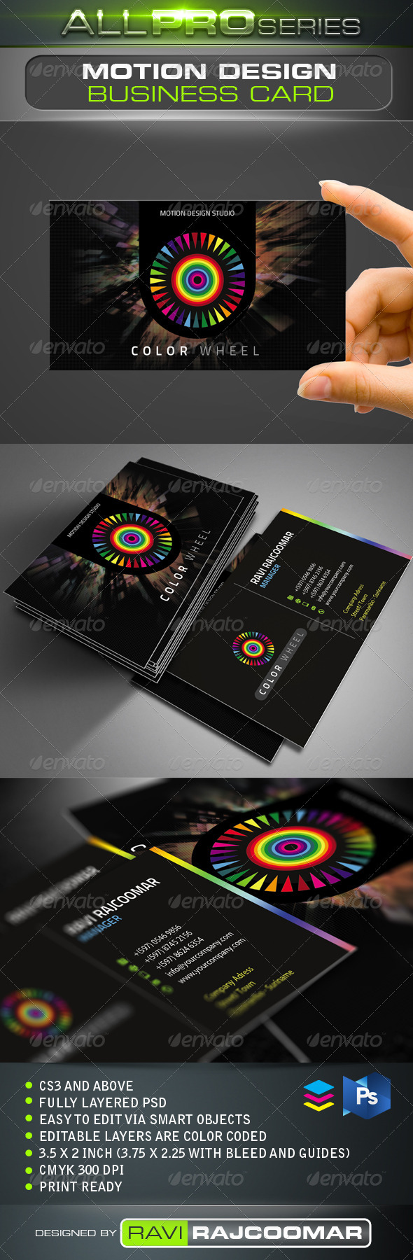 Motion Design Business Card - Creative Business Cards