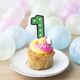 Colorful cupcake with a number one candle - PhotoDune Item for Sale