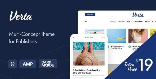 Verta - Multi-Concept WordPress Theme for Modern Publishers