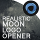 Realistic Moon Logo Opener l Logo in Space l Planet Distortion Logo - VideoHive Item for Sale