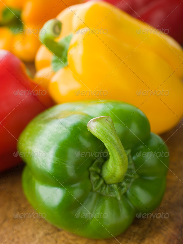 Different Coloured Peppers - Stock Photo - Images