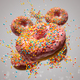 Flying sweet donuts with sprinkels - PhotoDune Item for Sale