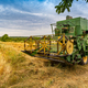 Old green combine harvester - PhotoDune Item for Sale