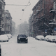 Beautiful view of wonderful snowy city with automobiles covered with snow. Urban street - PhotoDune Item for Sale