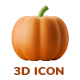 3D Icon Pack - Autumn Vol. 01 - Party / Thanksgiving