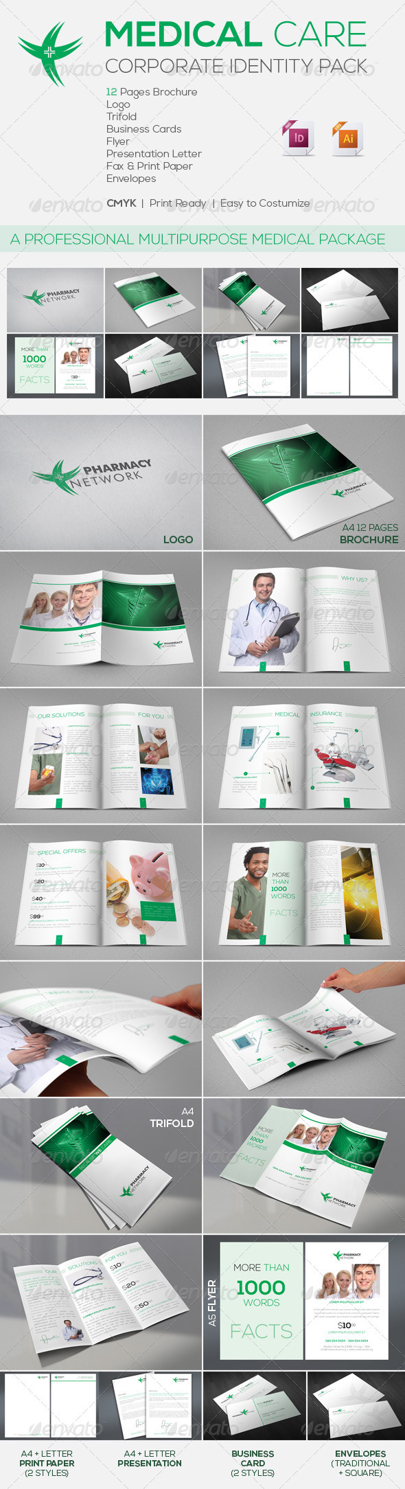 Medical Care | Corporate Identity Package - Corporate Brochures