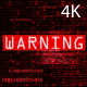4k Warning Glitch Background - VideoHive Item for Sale