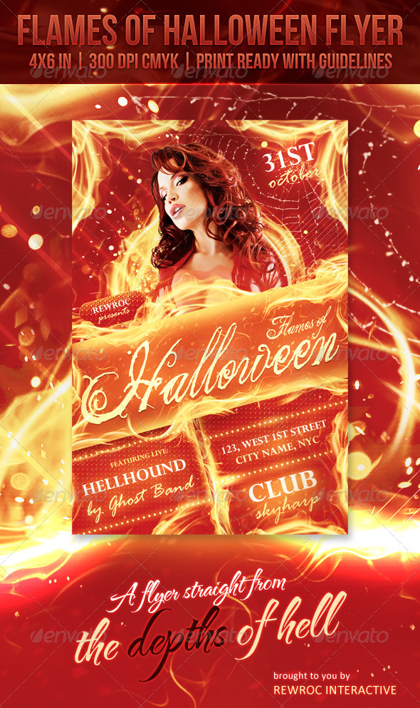 Flames Of Halloween Flyer