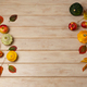Fall background with yellow, red and green pumpkins - PhotoDune Item for Sale