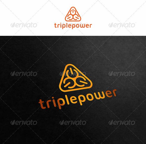 Triple Power Abstract Logo - Symbols Logo Templates