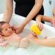 First bath of newborn baby boy. - PhotoDune Item for Sale
