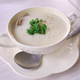 Mushroom soup with parsley in white ceramic bowl and spoon - PhotoDune Item for Sale