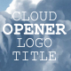 Cloud Logo Title Opener - VideoHive Item for Sale
