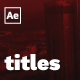 Dynamic Titles - VideoHive Item for Sale