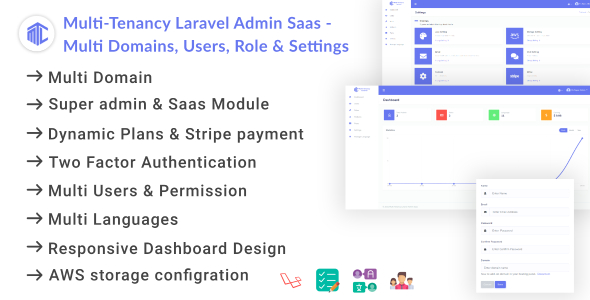 Download Multi-Tenancy Laravel Admin Saas – Domains, Users, Role, Permissions & Settings Free Nulled