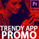 Trendy App Promo - 3d Mobile App Mockup Demonstration Video Premiere Pro