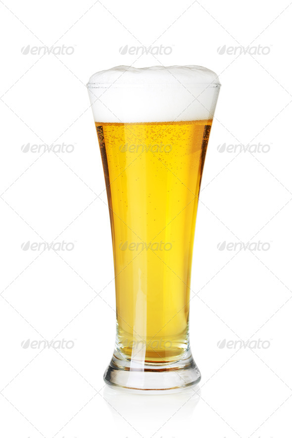 Beer collection - Lager beer in glass - Stock Photo - Images