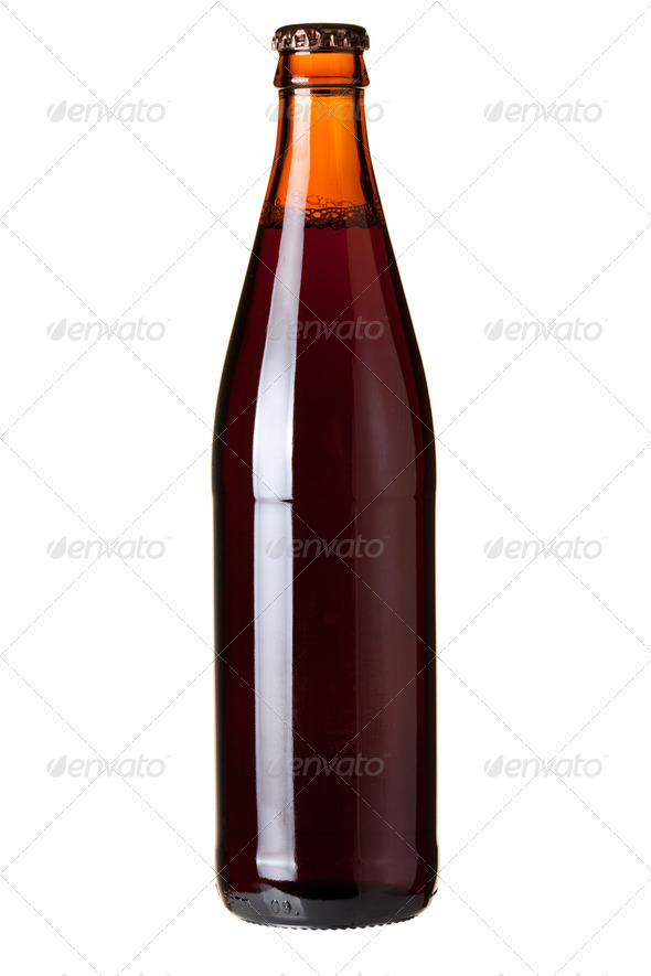 Dark beer in bottle - Stock Photo - Images