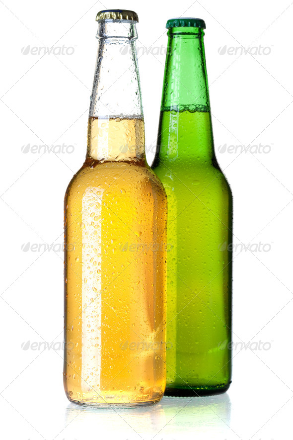 Two beer bottles - Stock Photo - Images