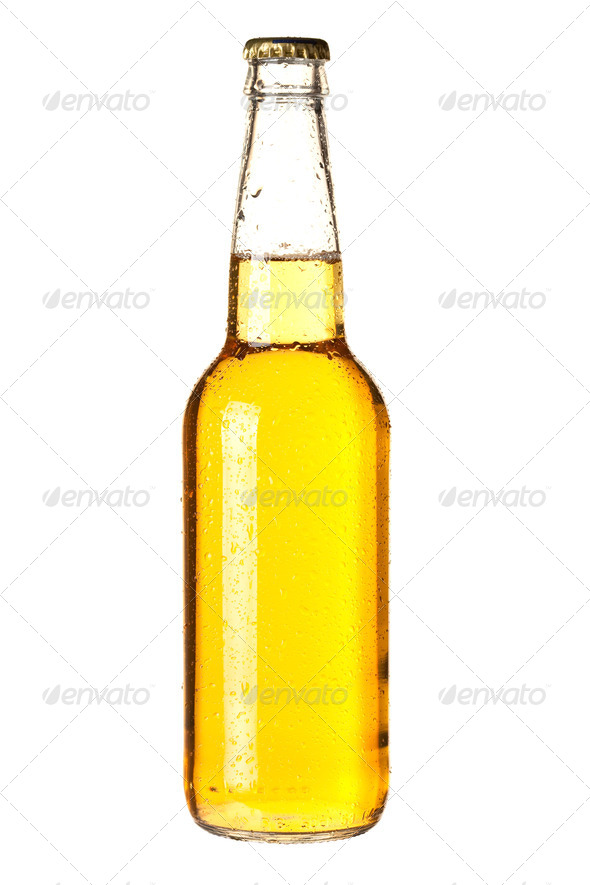 Lager beer in bottle - Stock Photo - Images