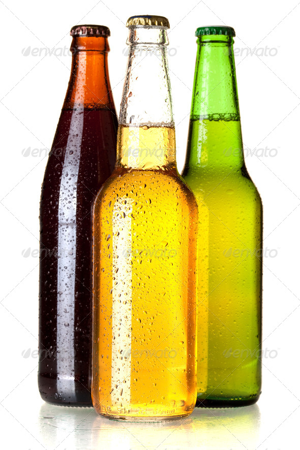 Three beer bottles - Stock Photo - Images