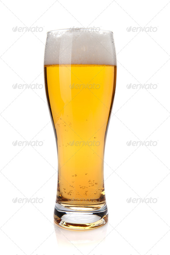 Lager beer glass - Stock Photo - Images