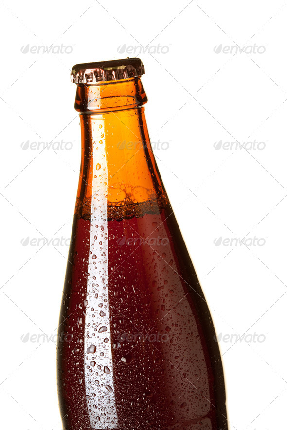 Closeup beer bottle - Stock Photo - Images