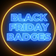 Black Friday Neon Badges