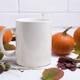 Coffee mug mockup thanksgiving with pumpkins, acorns - PhotoDune Item for Sale